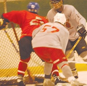 The classes of the 1970s and the 1980s battled it out for the inaugural win at the Ainsworth High alumni hockey game at Flint Iceland Arenas last Friday.