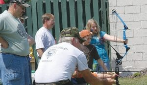 Youngsters tried their hands at archery under the watchful eyes of members of Michigan Bowhunters District 6 range captains at the JAKES event at Williams Gunsight and Outfitters last weekend. The annual event teaches kids about shooting sports and hunting ethics.