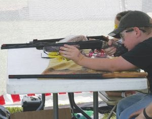 A young shooter took careful aim at the BB gun range at the National Wild Turkey Federation's JAKES days at Williams Gunsight and Outfitters last Saturday.