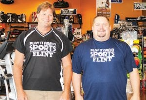 Owner Tom Rubin and Manager Dale Earle welcome sports enthusiasts into Play It Again Sports, 4230 Miller Rd. Rubin recently opened a store inside Polar Palace, 3301 Davison Rd. in Lapeer, and will open a store inside Perani Arena & Event Center, 3501 Lapeer Rd. in Flint, mid-September.