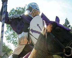 Jousting is one of the most popular events at the Michigan Renaissance Festival. Jousts take place throughout the day each weekend in the village of Hollygrove.