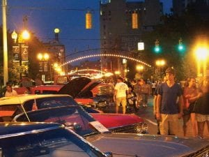 Record crowds attended this year's Back to the Bricks celebration in Flint and surrounding communities, Aug. 17-21. Above: The streets of downtown Flint were filled with people checking out the classic cars on display there Aug. 20