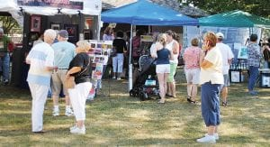Art lovers turned out bright and early for Art in the Park 2010 Aug. 28 in Elms Road Park.