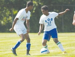 Carman-Ainsworth players scrimmaged against Kearsley in a pre-season battle.