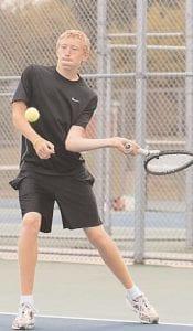 Carman-Ainsworth's Matt Nagey played at No. 4 Singles against Davison.
