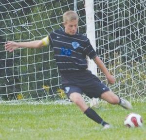 Todd Borkowski takes a goal kick.