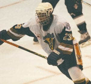 Joe McAuliffe of Goodrich is a returning veteran for the Flint Junior Generals, who play on weekends at Flint Iceland Arenas.