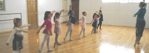 Assistant Clarissa McLaughlin instructs the Primary Ballet II class, composed of children ages 6-8 years old, at Cindee's Dance, 8048 Miller Rd.