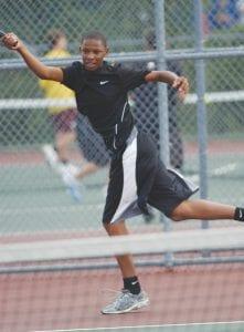 Carman-Ainsworth's Darrius Jones has seen success this season as a singles player.