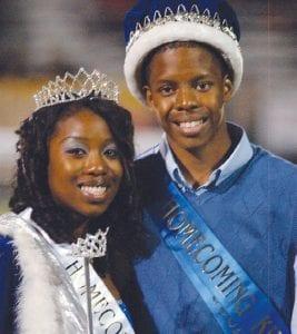 Homecoming Queen Eboni Lynn and King Desmond Miller.