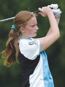 Danielle Sims fired a 114 in the regional.