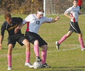 LakeVille moved on to face Goodrich yesterday after beating Dryden in double overtime.