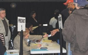 ELECTION TIME — Voters filled Flint Township Municipal Hall on Nov. 2 to cast their ballots in the election.