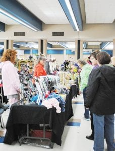 CRAFT TIME — Approximately 800 people attended the 35th Anniversary Randels Elementary Craft Show at Carman-Ainsworth High School. See the story on page 9.