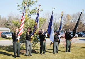 The VFW/AMVETS Post #3720 Honor Guard was at the services.
