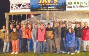 The final tally of the night was captured at the NBC25 and Jay's Sporting Goods Trophy Deer Pole.
