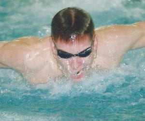 Carman-Ainsworth/Flushing's Erick Skaff practiced the butterfly Tuesday.
