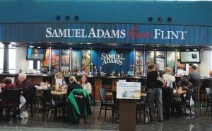 Passengers also can enjoy beverages from the Samuel Adams Toasts Flint bar.