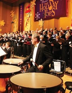 Choirs (above and left) which sung as part of the 2009 Holiday Pops program.