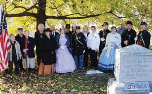 Approximately 30-40 people attended the gravesite dedication ceremony for Civil War nurse Lucy J. Blanchard. Her headstone (below) at Oakwood Cemetery in Syracuse, New York.