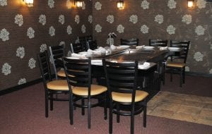 A new, private hibachi room featuring four tables with seating for 10 at each recently opened inside Sagano Japanese Bistro & Steakhouse in Flint Twp.