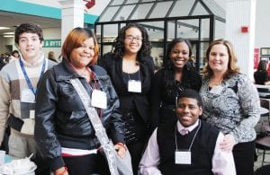 Sophomore Khaled Zaiter, seniors Arlesha O'Daniel, Helenshia Willingham and Shekia Holmes; junior Deonte Pitts; and teacher Leslie Holt were some of the students from Carman- Ainsworth High School who participated in the 2011 Business Professionals of America Workplace Skills Assessment Program at Baker College Jan. 7.