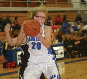 Sarah Satkowiak comes down with a rebound in a game last week against Grand Blanc.