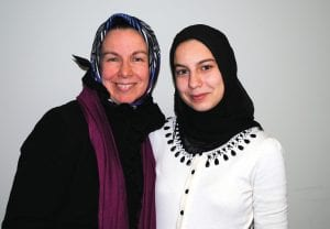 CAHS senior Mariam Salman, right, with her mother May Ghalib, MD.
