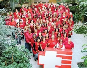 HealthPlus employees celebrated the end of week-long fundraising for the American Heart Association's Go Red campaign by wearing red clothing on Feb. 4.
