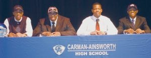 Cavaliers (from left) James Madison, Dominique Harris, Chris McKay and Chad Coleman announced their choices Wednesday.