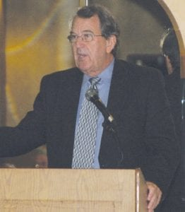 Former University of Michigan head football coach Lloyd Carr.