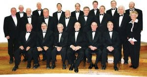 Members of The Norton Male Chorus.