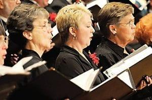 Members of the Flint Festival Chorus perform.