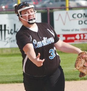 Carman-Ainsworth pitcher Kari Hart stood tall against tough competition this past week.