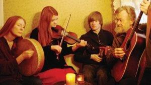 Members of the Irish, Scottish and Celtic-American folk music group Finvarra's Wren.