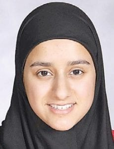 Tesneem Alkiek, daughter of Jumana Jondy and Radwan Alkiek, finished with the fifth highest g.p.a. of 3.981 She served on the executive board of the National Honor Society, was vice president of the Muslim Students Association and was active in Health Occupations of America. On a national level, she serves on the Muslim Youth of North America where she coordinates numerous camps and conferences with other youth in the Midwest. Honors include the ACT Excellence Award for scoring in the top ten nationally on the academic test, CA Academic Hall of Fame nominee, the Chancellor's Scholarship from the University of Michigan- Flint and a Michigan Tradition Scholarship from the University of Michigan-Ann Arbor where she plans to study pre-med.