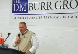 David Burr of The DM Burr Group, spoke to the Genesee Regional Chamber of Commerce about diversifying your business during a lunch networking event his company hosted recently.