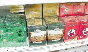 Teas including Arabic, Chinese, Egyptian, English and regular Lipton are sold at the new Hala Beco market on Corunna Road.