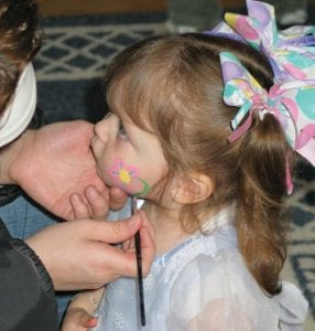 The Children's Museum, 1602 W. University Ave., has face painting in the Sproutside area.