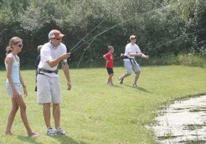 Fly fishing is just one activity people can learn at the Gourmet Gone Wild event.