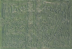 An aerial view of the 2011 Corunna Corn Maze.