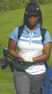 Carman-Ainsworth's Selena Johnson on the golf course earlier this season.