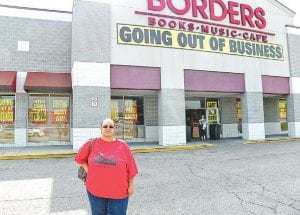 Sonya Henderson of Flint left empty-handed but was among the last shoppers during the final half hour of business Tuesday before Border's bookstore closed for good.
