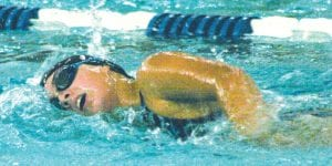 Carman-Ainsworth's Patricia Hrit stroked through the water in a recent meet.
