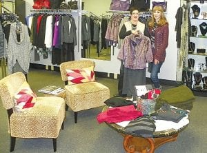 Melodye Lee with daughter Courtney recently moved Maynard's, her upscale clothing boutique to Flint Township from Flushing.