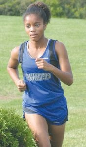 Carman-Ainsworth's Randi Richardson went it alone on course earlier this season.