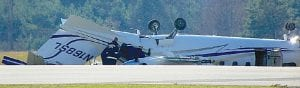This plane crashed Nov. 16 at Bishop International Airport. No one was seriously hurt in the mishap.