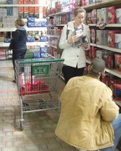 Shoppers at Menards in Davison Township were busy last week buying Christmas lights and decorations. The store will celebrate its first Christmas in the community this year, having opened for business at Court Street and Irish Road in May.