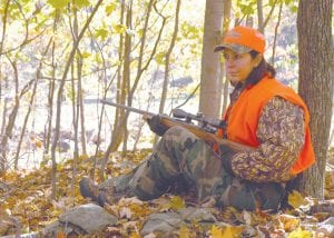 Hunters are required to wear hunter orange, but hikers, dog walkers and others are encouraged to also when out on the trails.