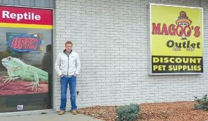 Matt McCord, co-owner of Magoo's Outlet, at their newest store.